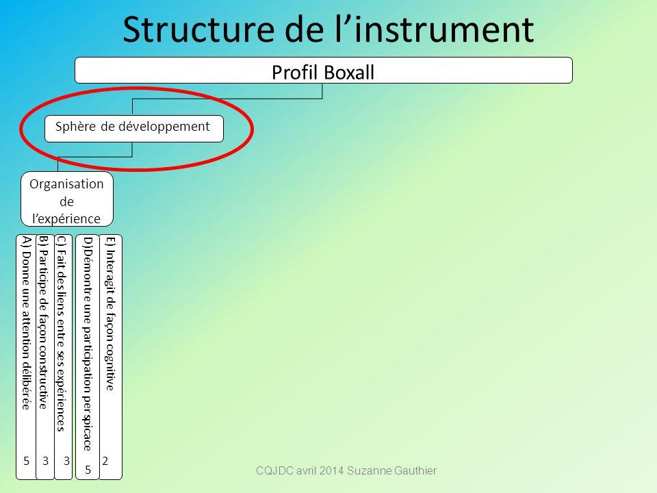Structure de l'instrument