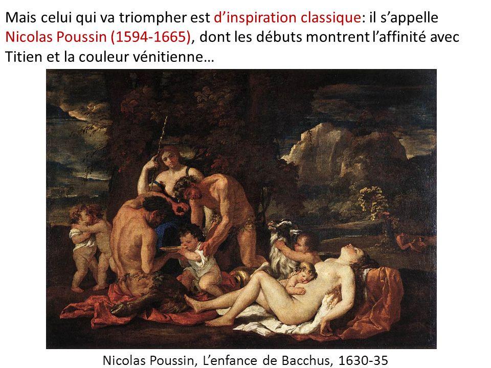 Nicolas Poussin, L'enfance de Bacchus, 1630-35