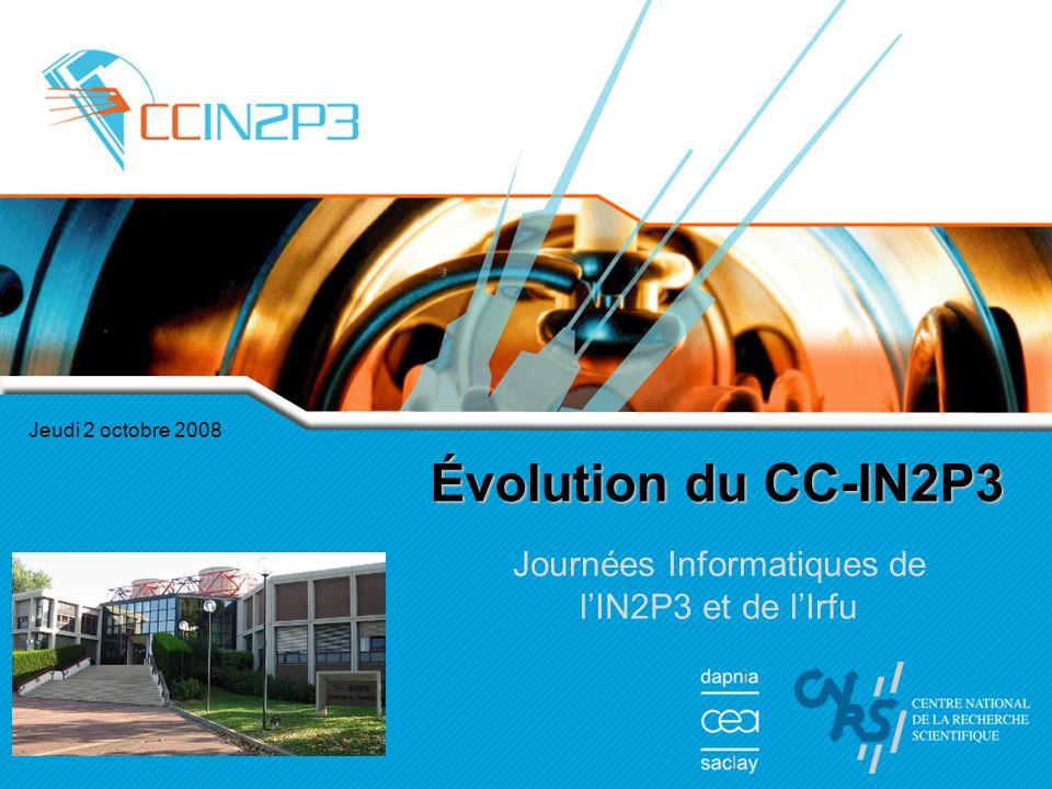 Journées Informatiques de l'IN2P3 et de l'Irfu