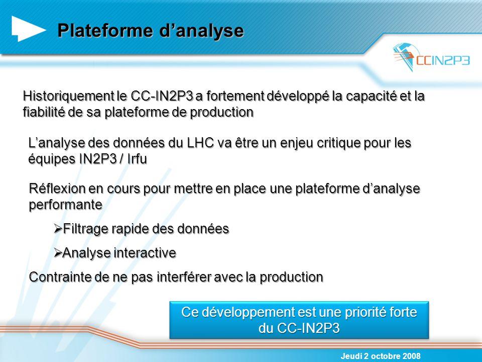 Ce développement est une priorité forte du CC-IN2P3