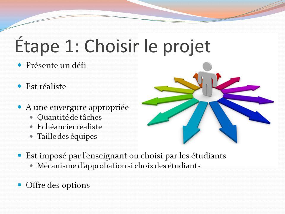 Étape 1: Choisir le projet