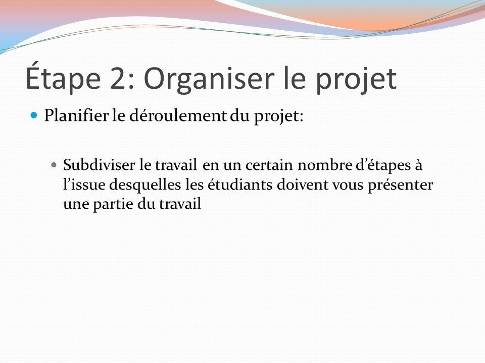 Étape 2: Organiser le projet