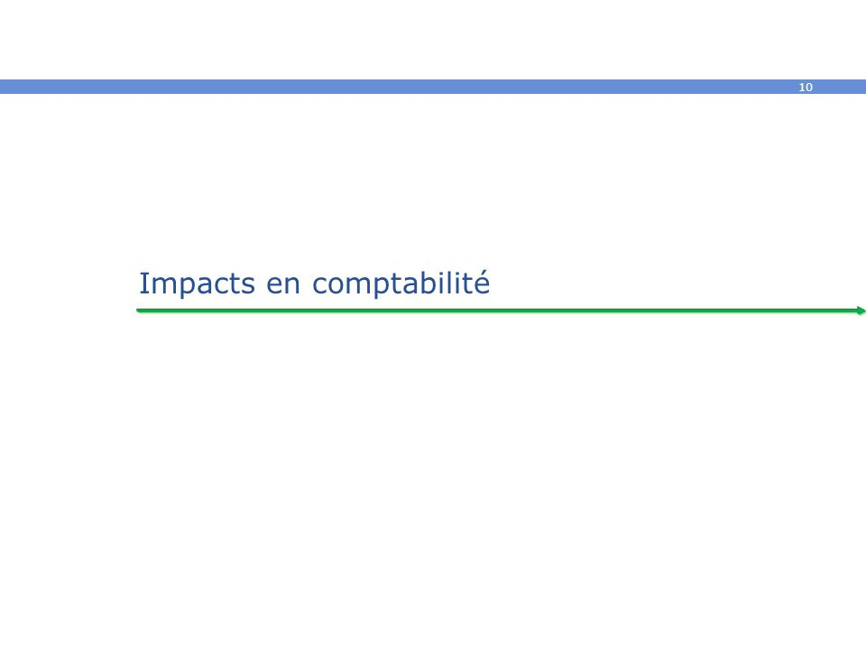 Impacts en comptabilité