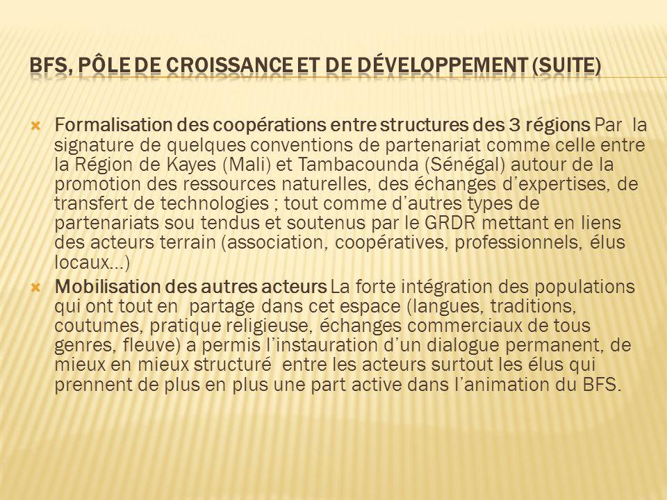 BFS, Pôle de croissance et de développement (suite)