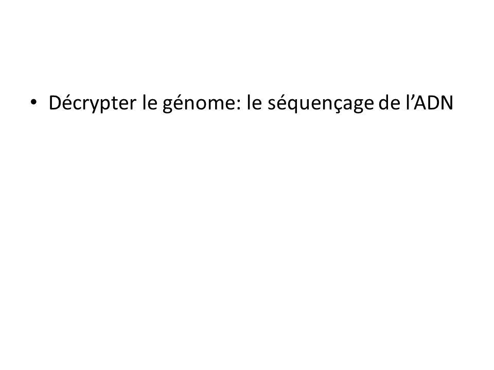 Décrypter le génome: le séquençage de l'ADN