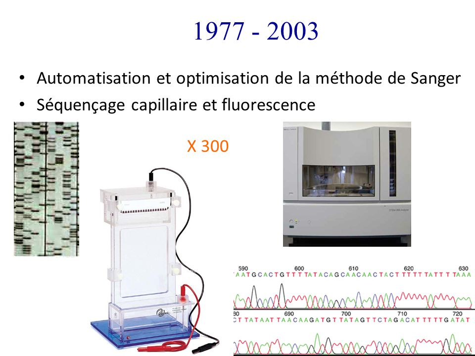 1977 - 2003 Automatisation et optimisation de la méthode de Sanger