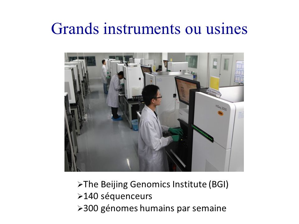 Grands instruments ou usines