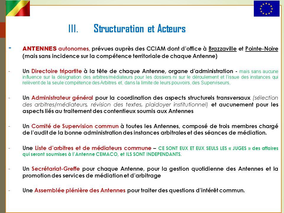 III. Structuration et Acteurs