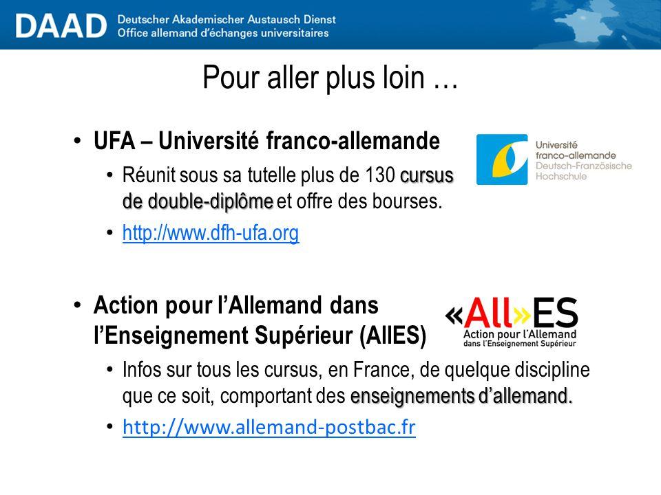 Pour aller plus loin … UFA – Université franco-allemande