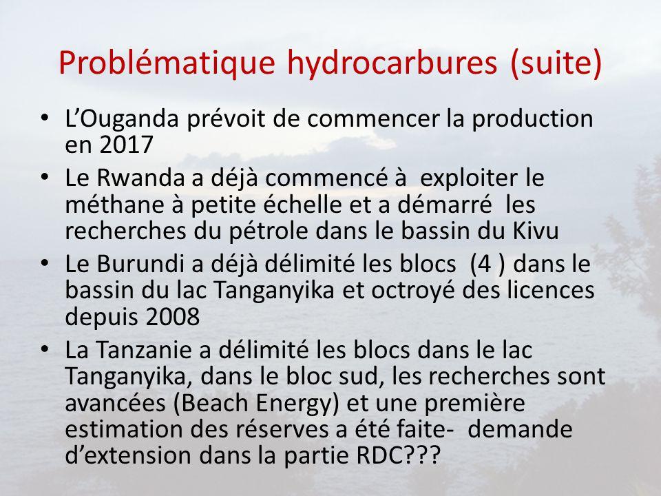 Problématique hydrocarbures (suite)
