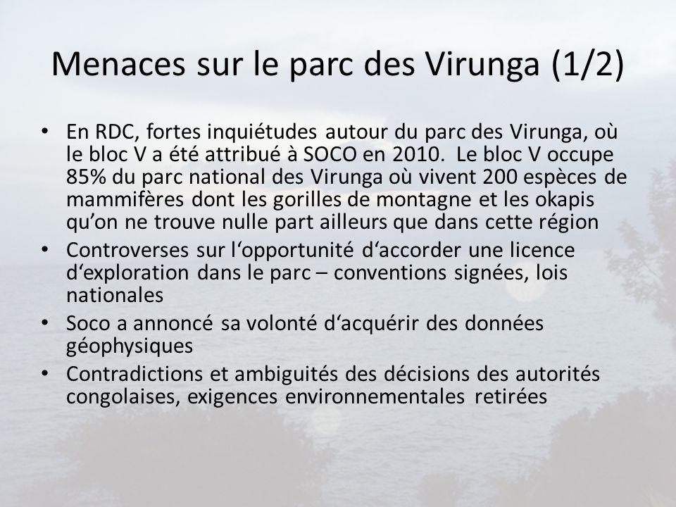 Menaces sur le parc des Virunga (1/2)