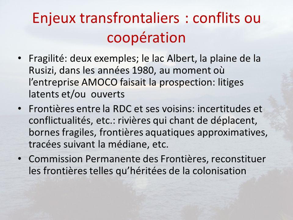 Enjeux transfrontaliers : conflits ou coopération
