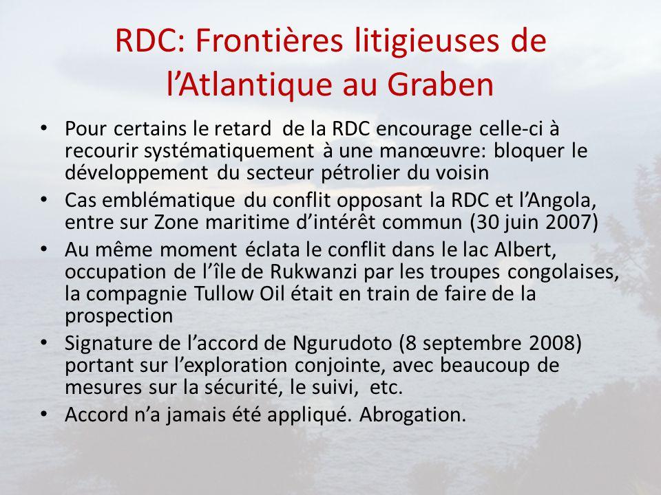 RDC: Frontières litigieuses de l'Atlantique au Graben
