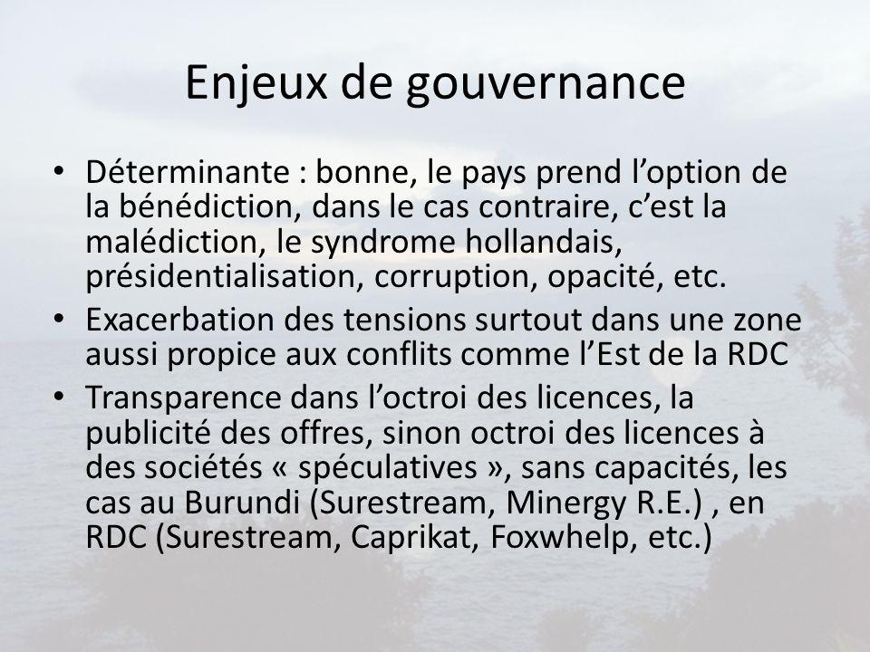 Enjeux de gouvernance