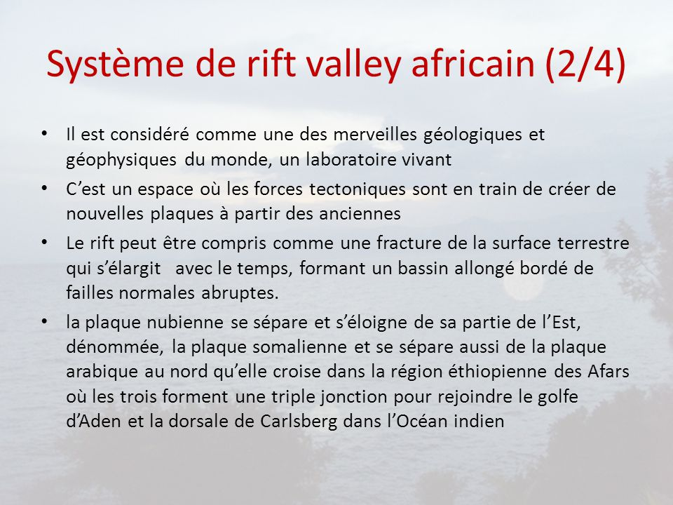 Système de rift valley africain (2/4)