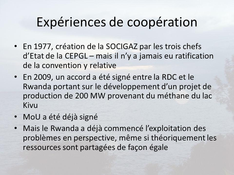Expériences de coopération