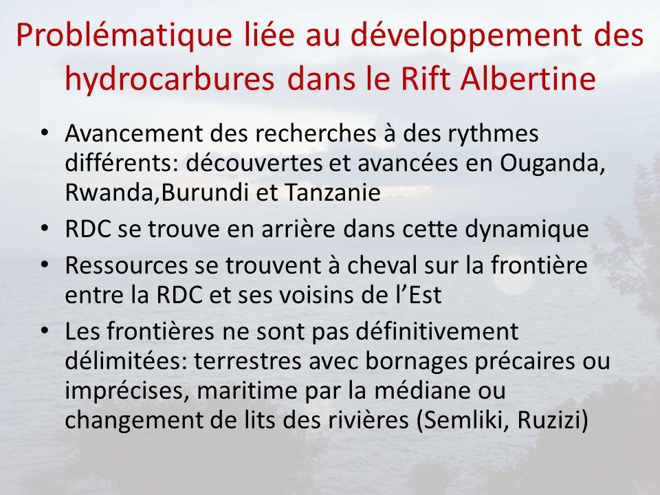 Problématique liée au développement des hydrocarbures dans le Rift Albertine