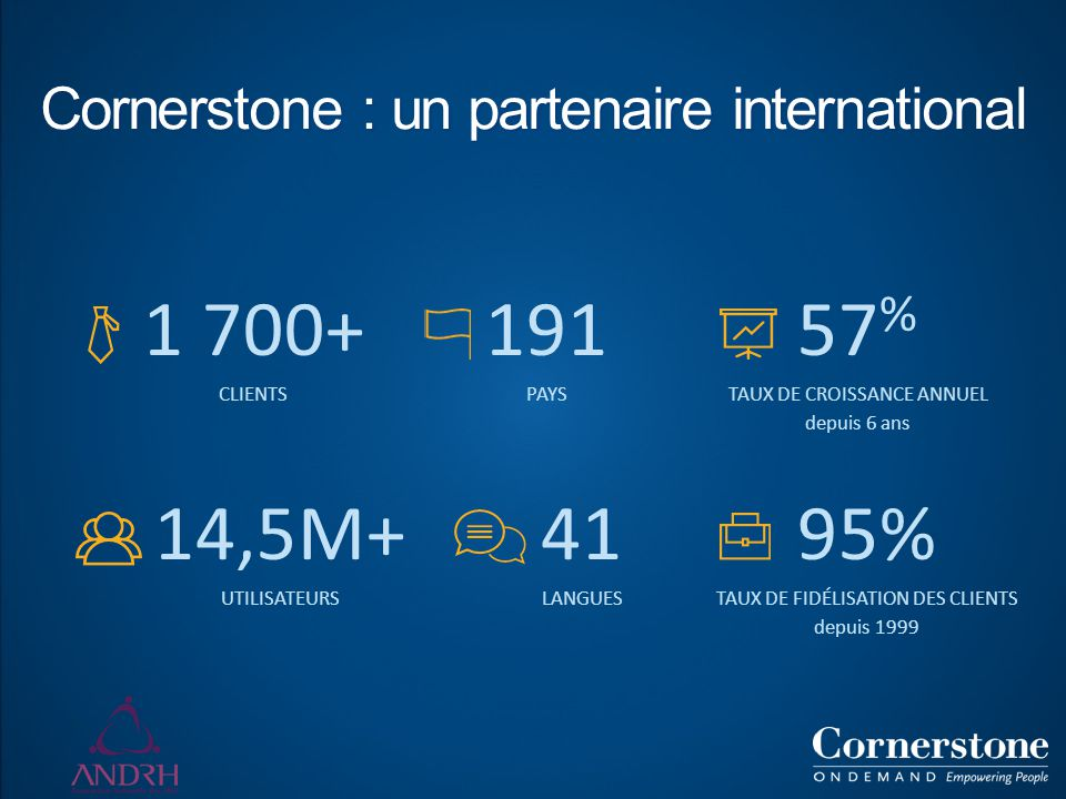 Cornerstone : un partenaire international