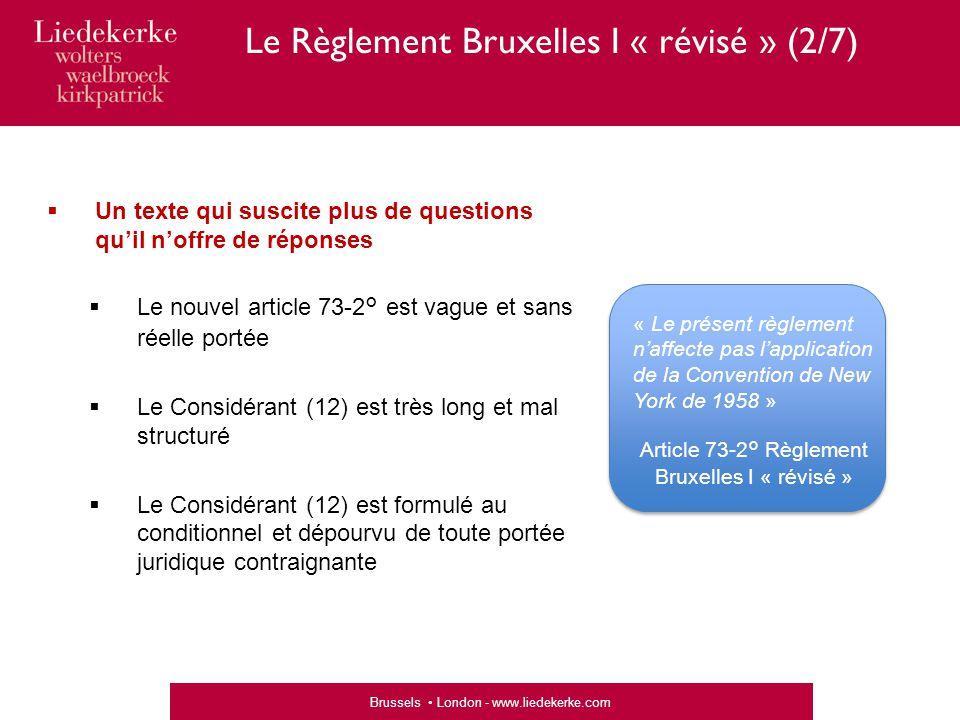 Le Règlement Bruxelles I « révisé » (2/7)