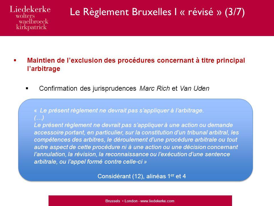 Le Règlement Bruxelles I « révisé » (3/7)