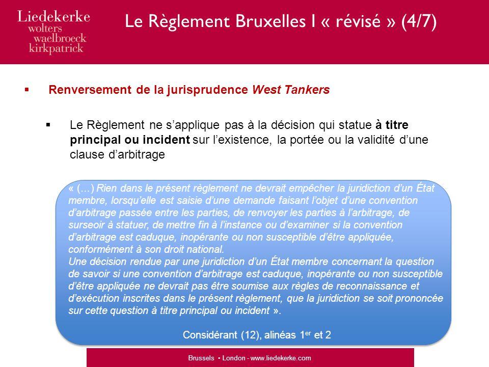 Le Règlement Bruxelles I « révisé » (4/7)