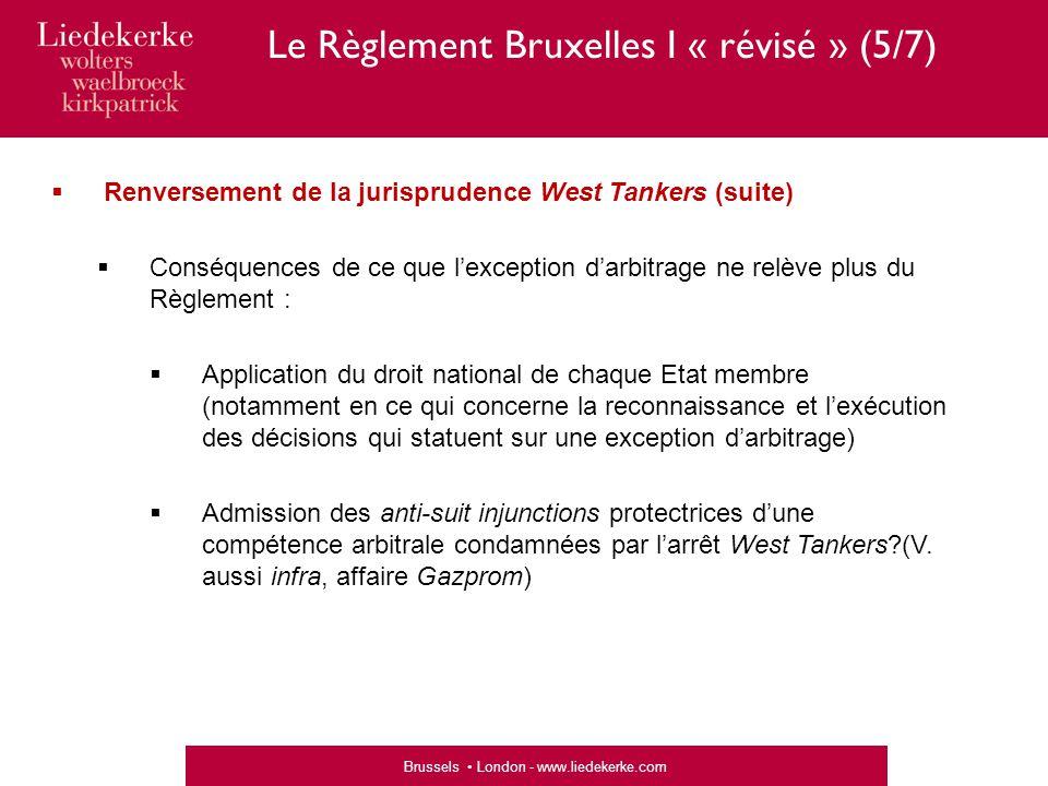 Le Règlement Bruxelles I « révisé » (5/7)