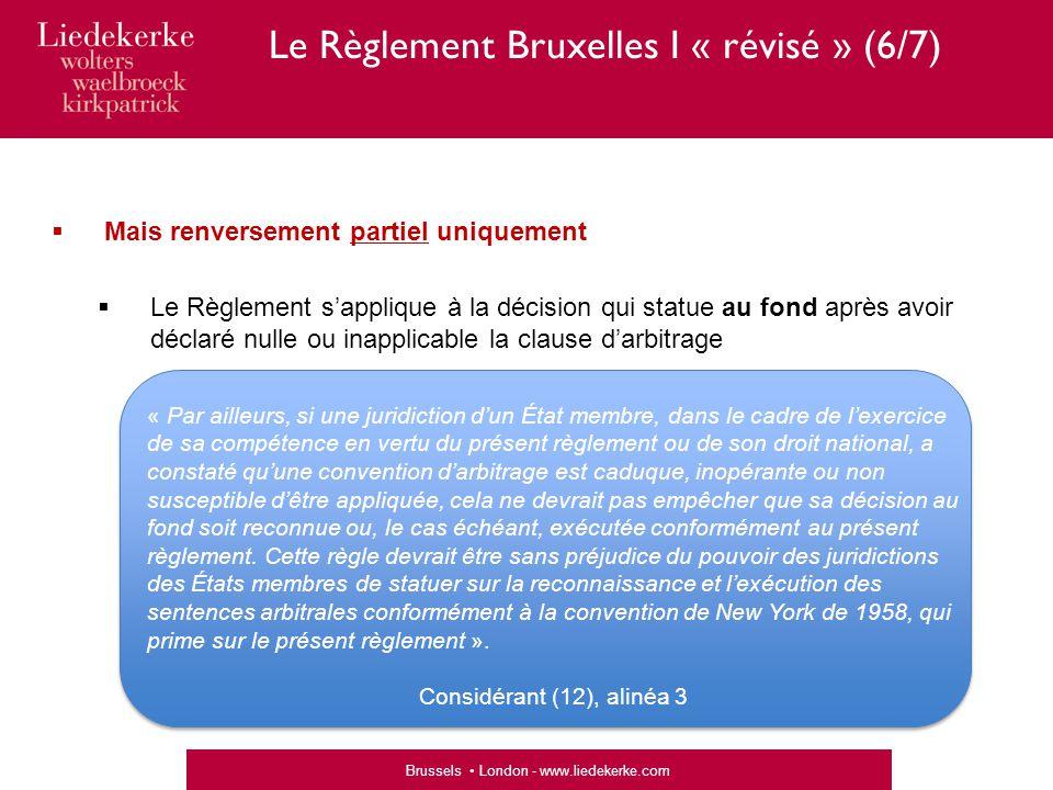 Le Règlement Bruxelles I « révisé » (6/7)