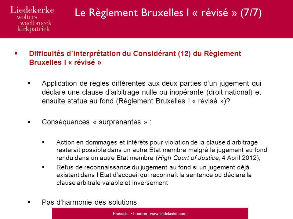 Le Règlement Bruxelles I « révisé » (7/7)