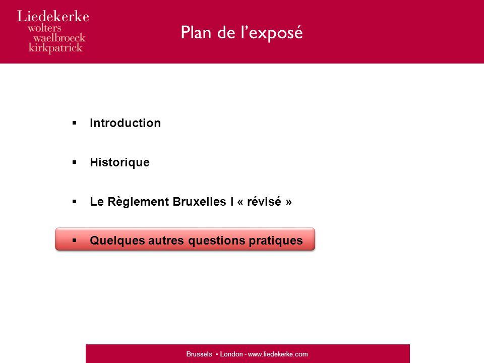 Plan de l'exposé Introduction Historique