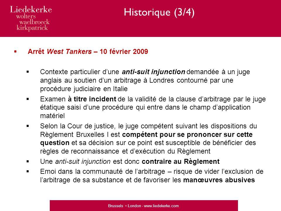 Historique (3/4) Arrêt West Tankers – 10 février 2009