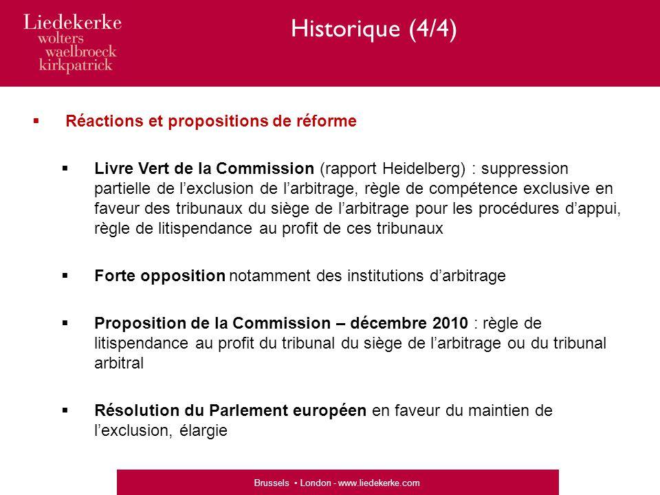 Historique (4/4) Réactions et propositions de réforme