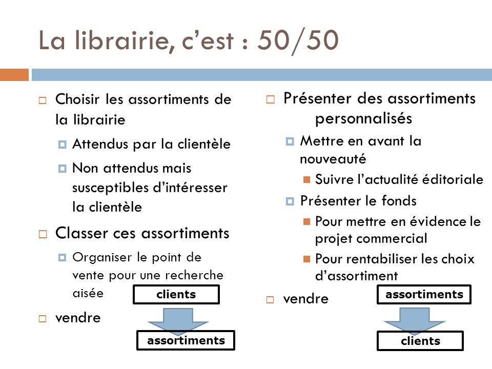La librairie, c'est : 50/50 Présenter des assortiments personnalisés