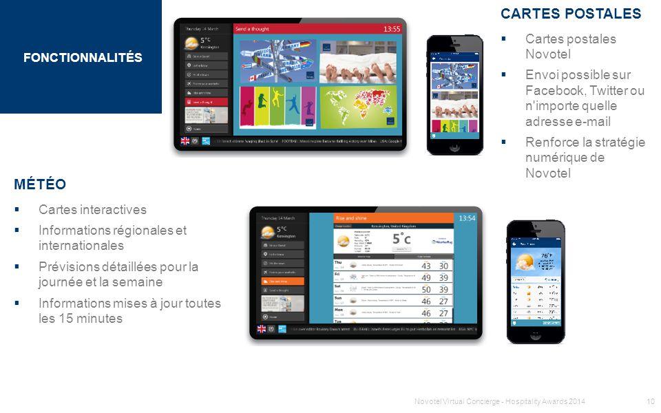 CARTES POSTALES MÉTÉO Cartes postales Novotel