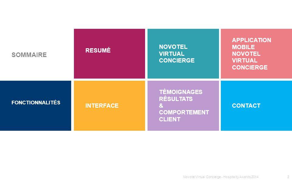 SOMMAIRE resumé Novotel Virtual Concierge