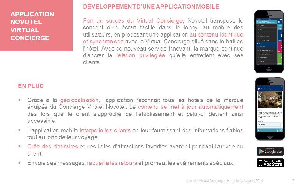 Application NOVOTEL VIRTUaL Concierge
