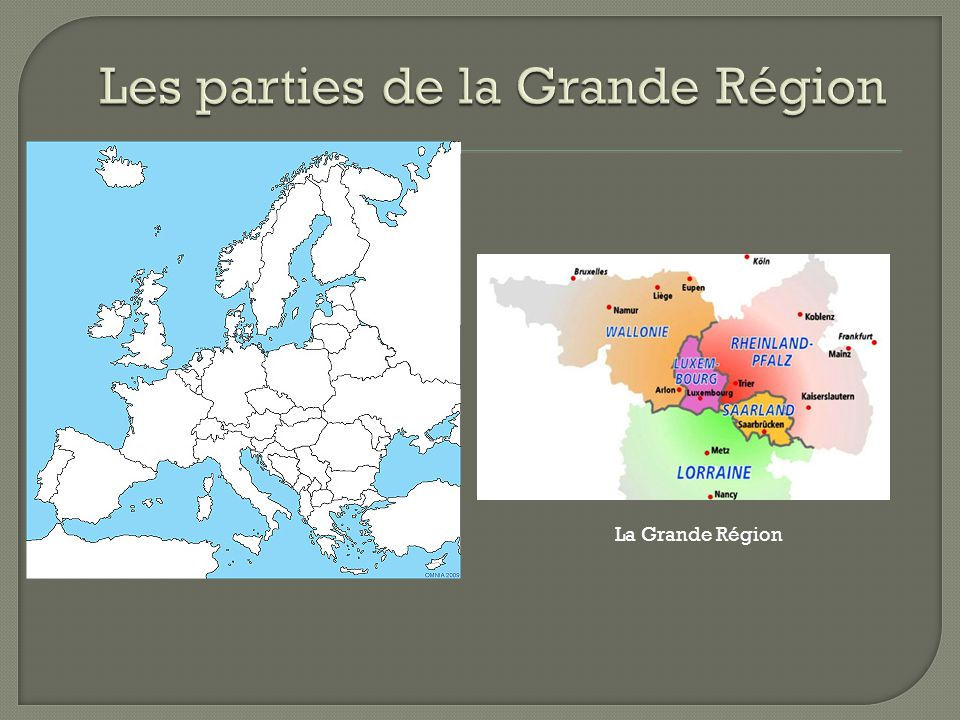 Les parties de la Grande Région