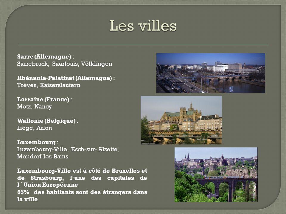 Les villes . 65% des habitants sont des étrangers au Luxembourg