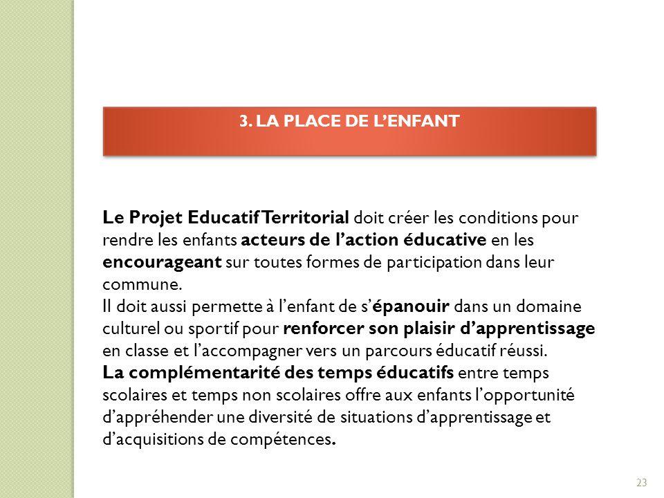 3. LA PLACE DE L'ENFANT
