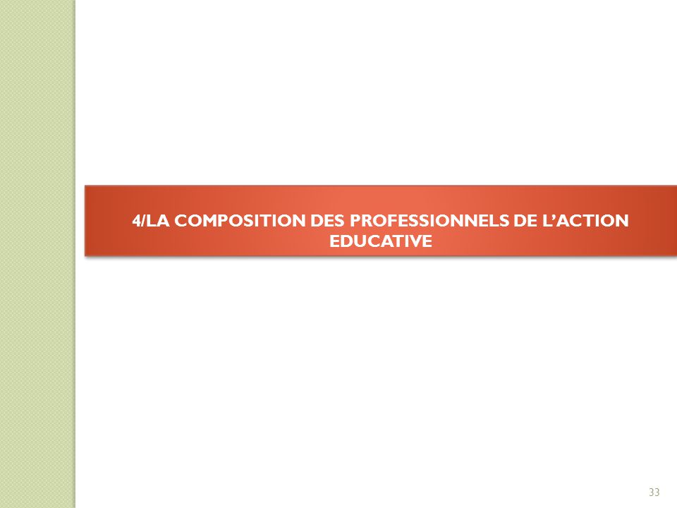 4/LA COMPOSITION DES PROFESSIONNELS DE L'ACTION EDUCATIVE
