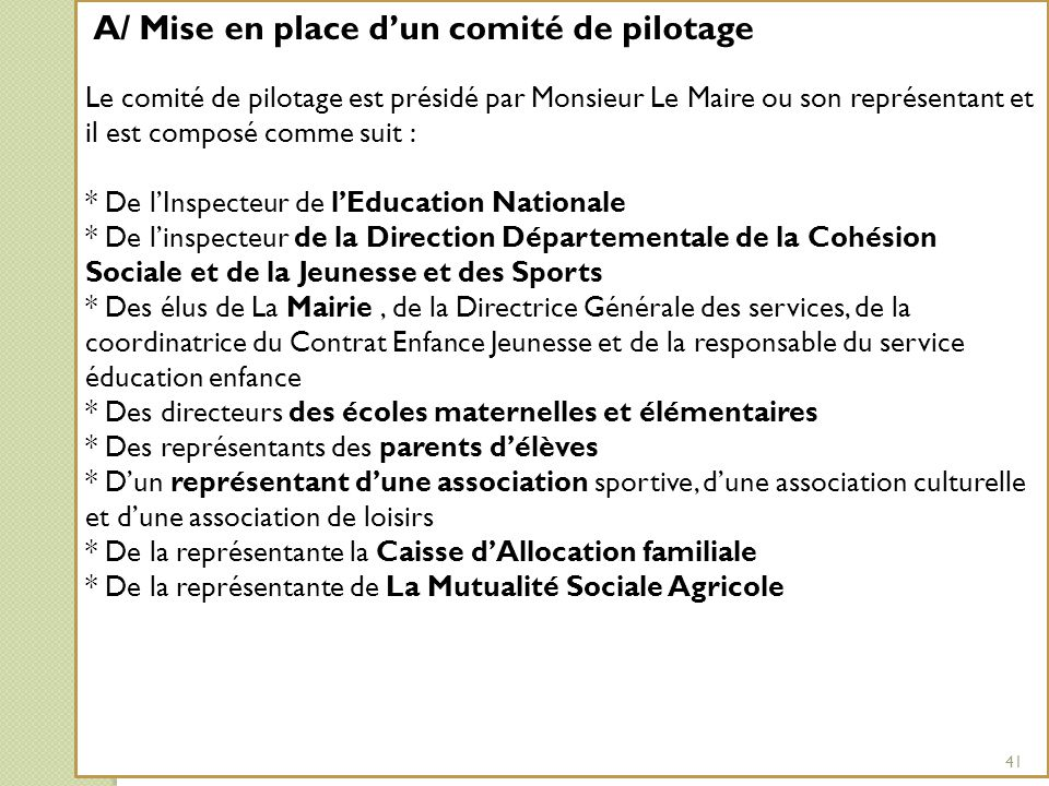 * De l'Inspecteur de l'Education Nationale