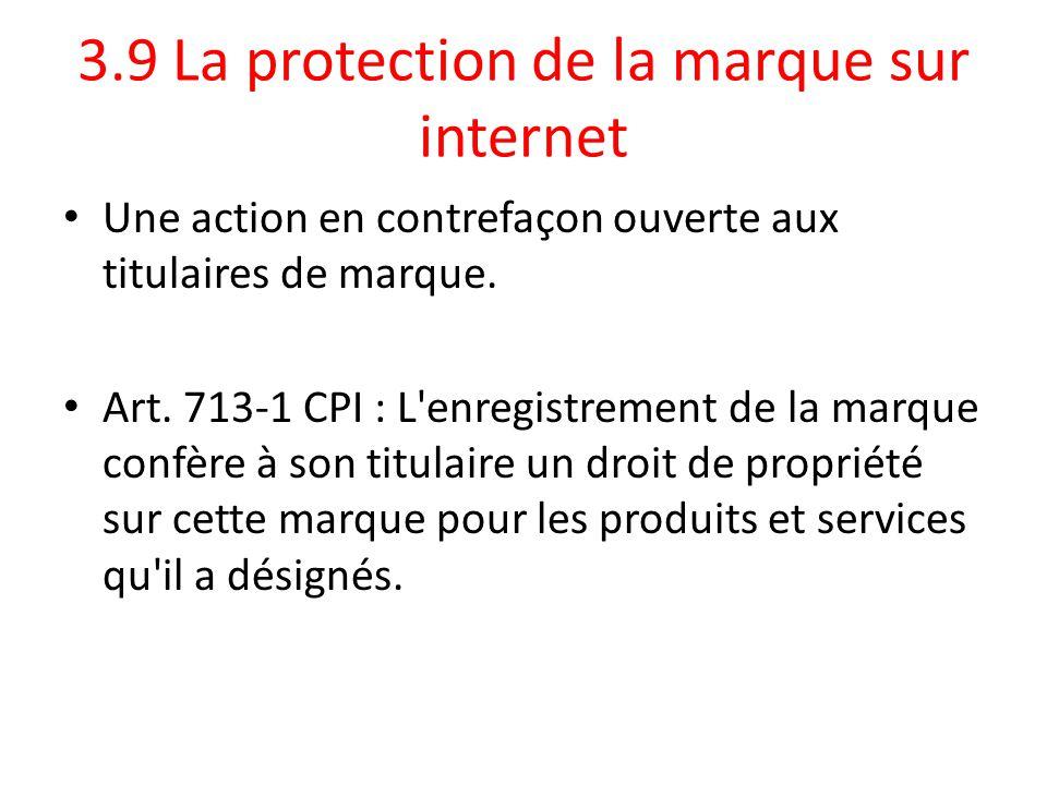 3.9 La protection de la marque sur internet