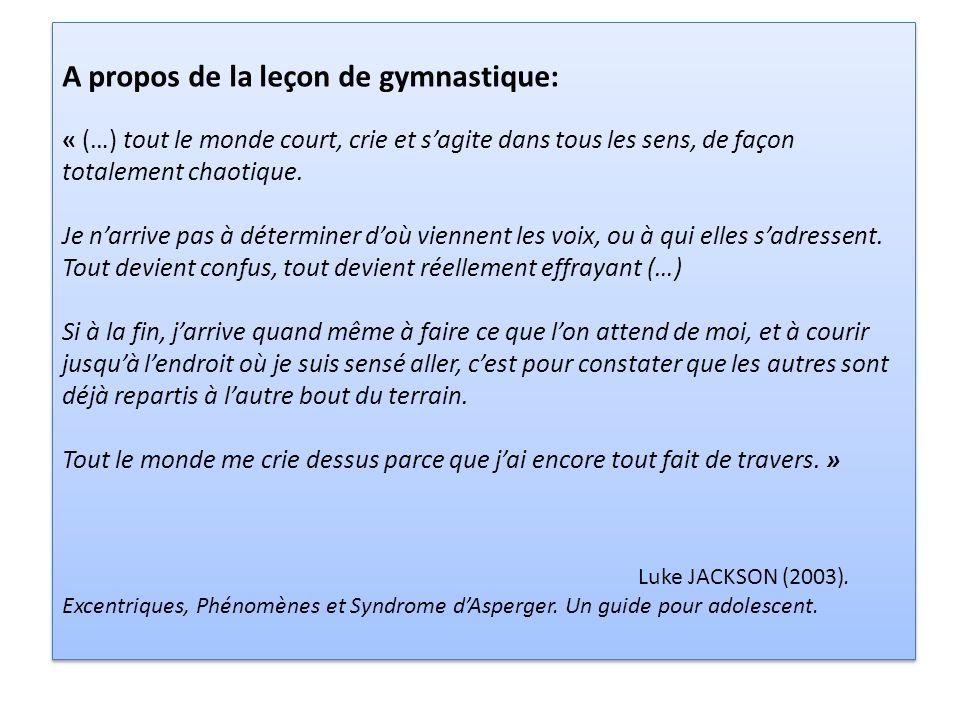 A propos de la leçon de gymnastique: