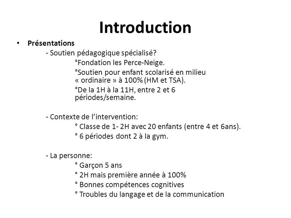 Introduction Présentations - Soutien pédagogique spécialisé