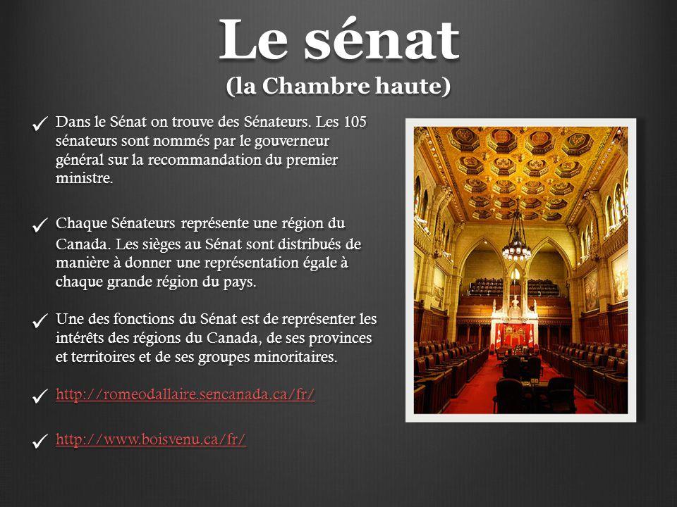 Le sénat (la Chambre haute)
