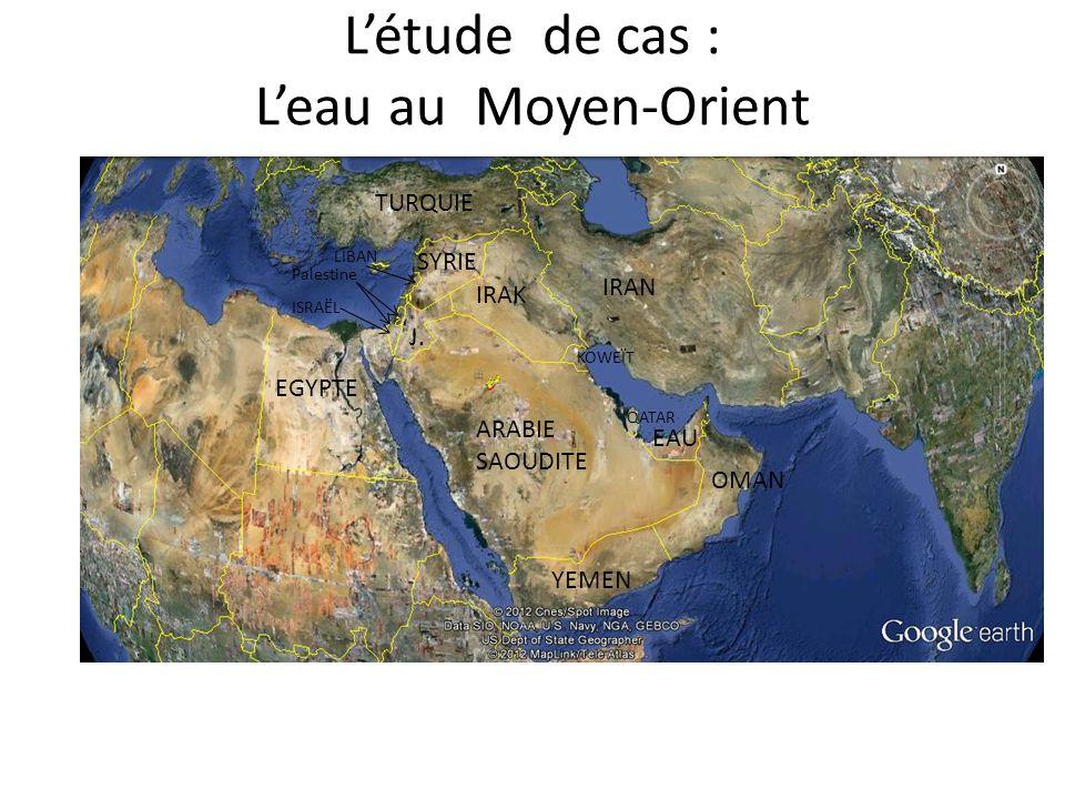 L'étude de cas : L'eau au Moyen-Orient