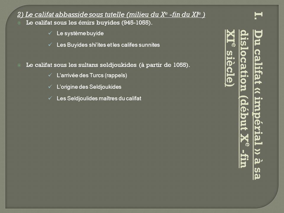 Du califat « impérial » à sa dislocation (début Xe -fin XIe siècle)