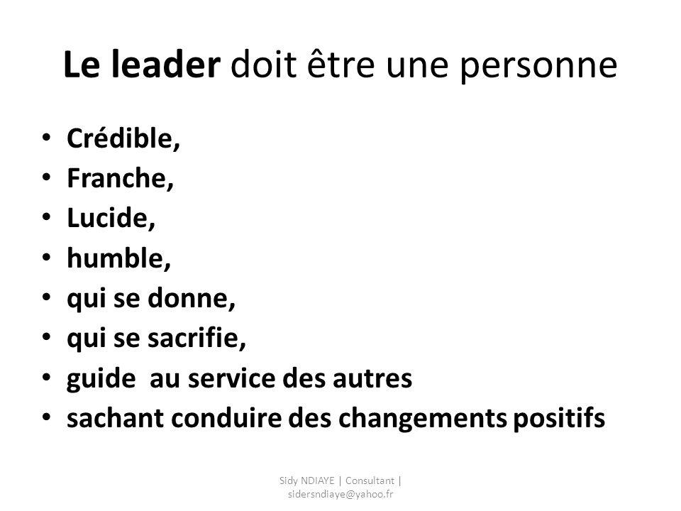Le leader doit être une personne