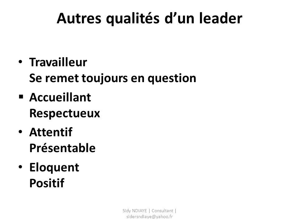 Autres qualités d'un leader