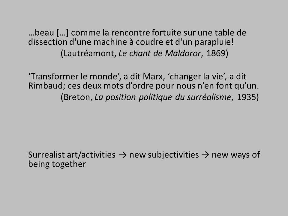 (Lautréamont, Le chant de Maldoror, 1869)