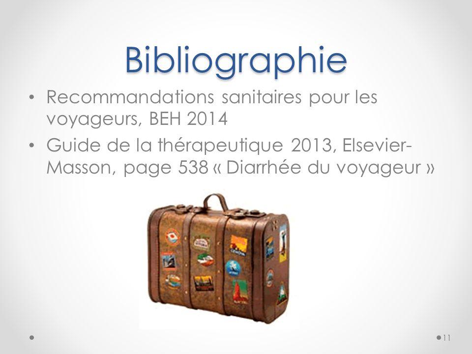 Bibliographie Recommandations sanitaires pour les voyageurs, BEH 2014